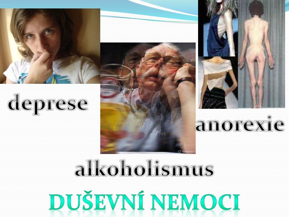 deprese anorexie alkoholismus Duševní nemoci