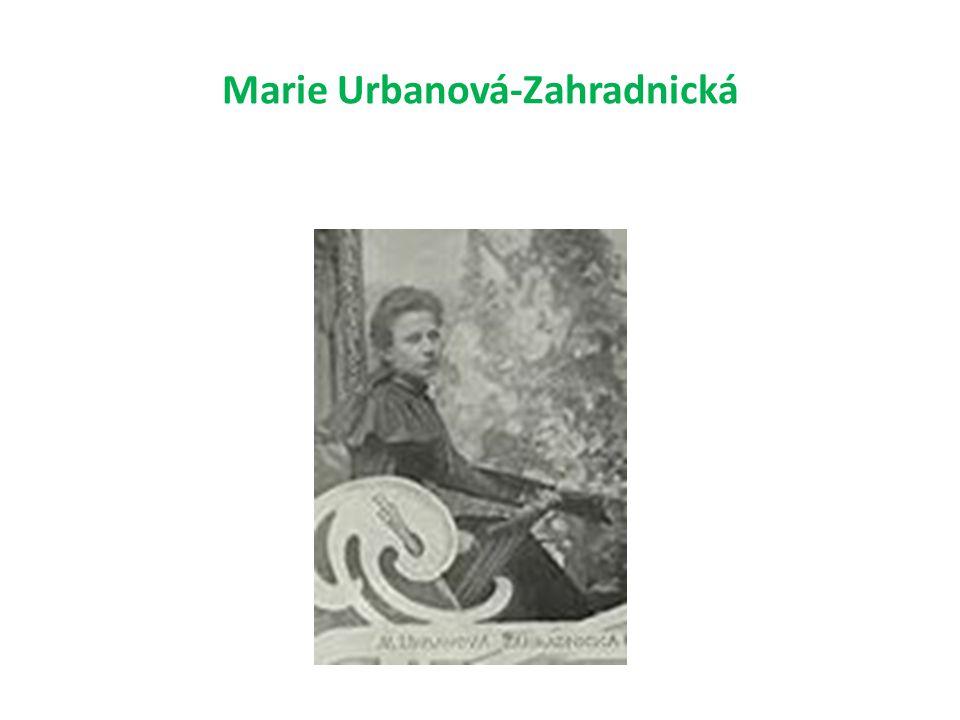 Marie Urbanová-Zahradnická
