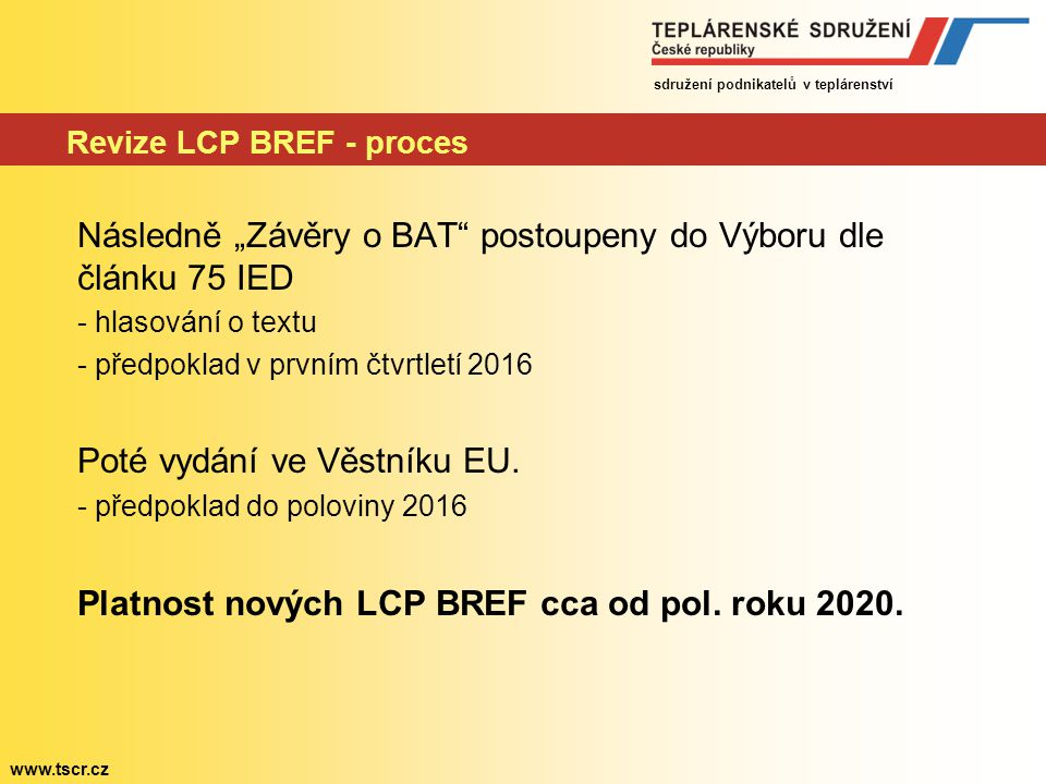 Revize LCP BREF - proces