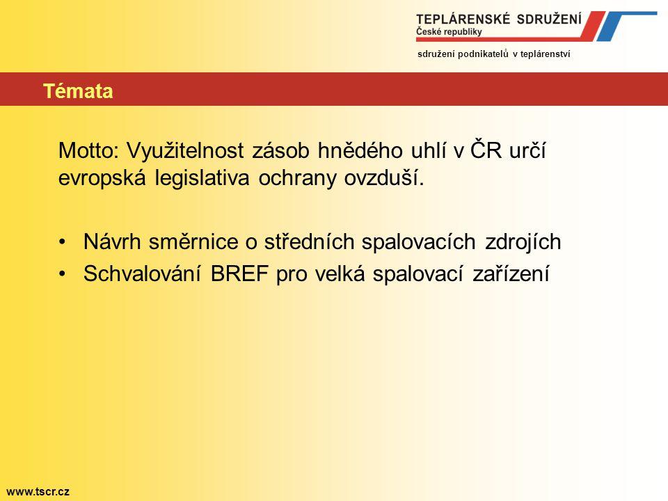 Návrh směrnice o středních spalovacích zdrojích