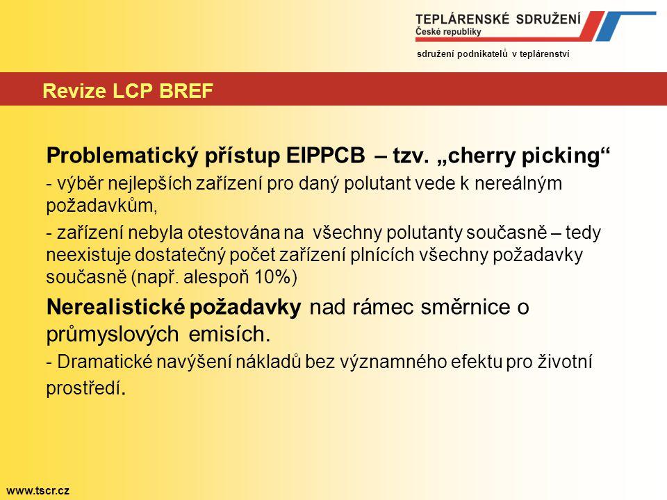 "Problematický přístup EIPPCB – tzv. ""cherry picking"