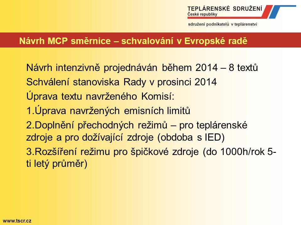 Návrh MCP směrnice – schvalování v Evropské radě
