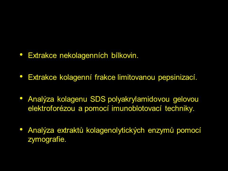 Extrakce nekolagenních bílkovin.