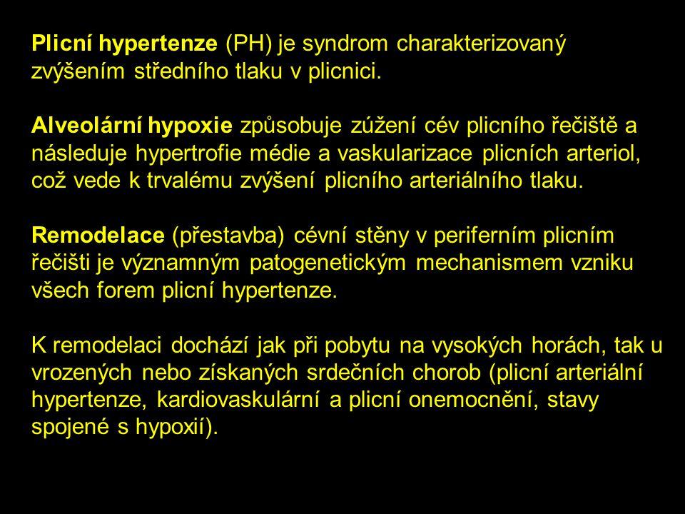 Plicní hypertenze (PH) je syndrom charakterizovaný zvýšením středního tlaku v plicnici.