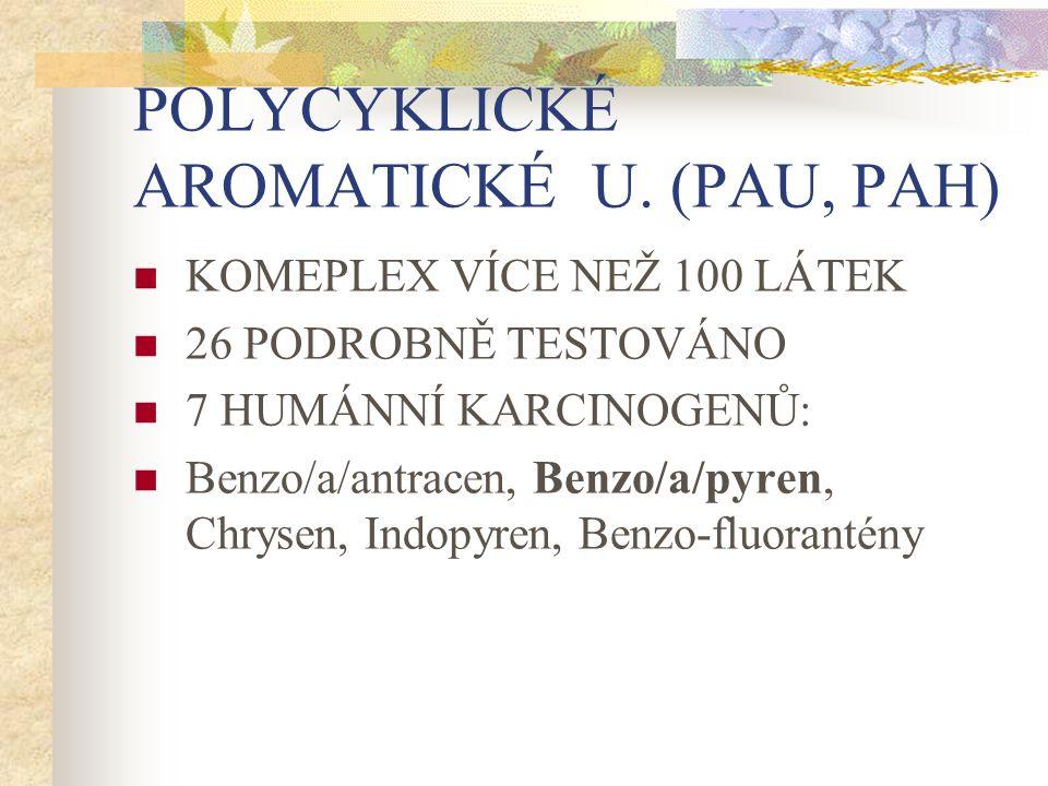 POLYCYKLICKÉ AROMATICKÉ U. (PAU, PAH)