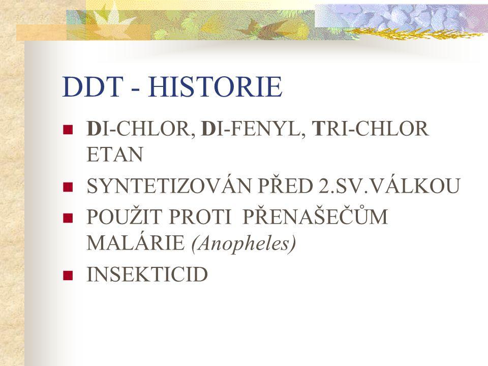 DDT - HISTORIE DI-CHLOR, DI-FENYL, TRI-CHLOR ETAN