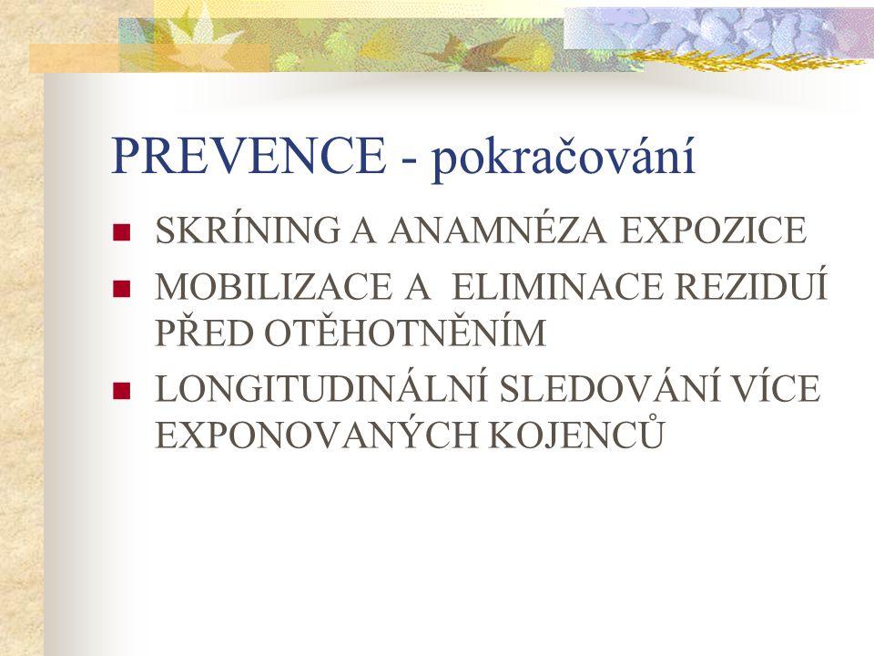 PREVENCE - pokračování