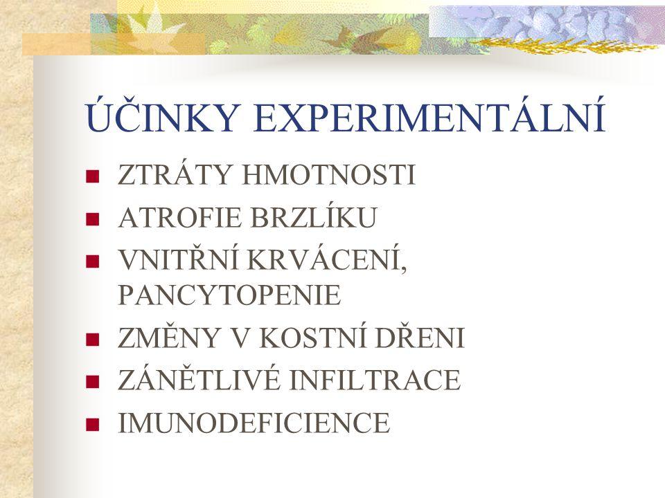 ÚČINKY EXPERIMENTÁLNÍ