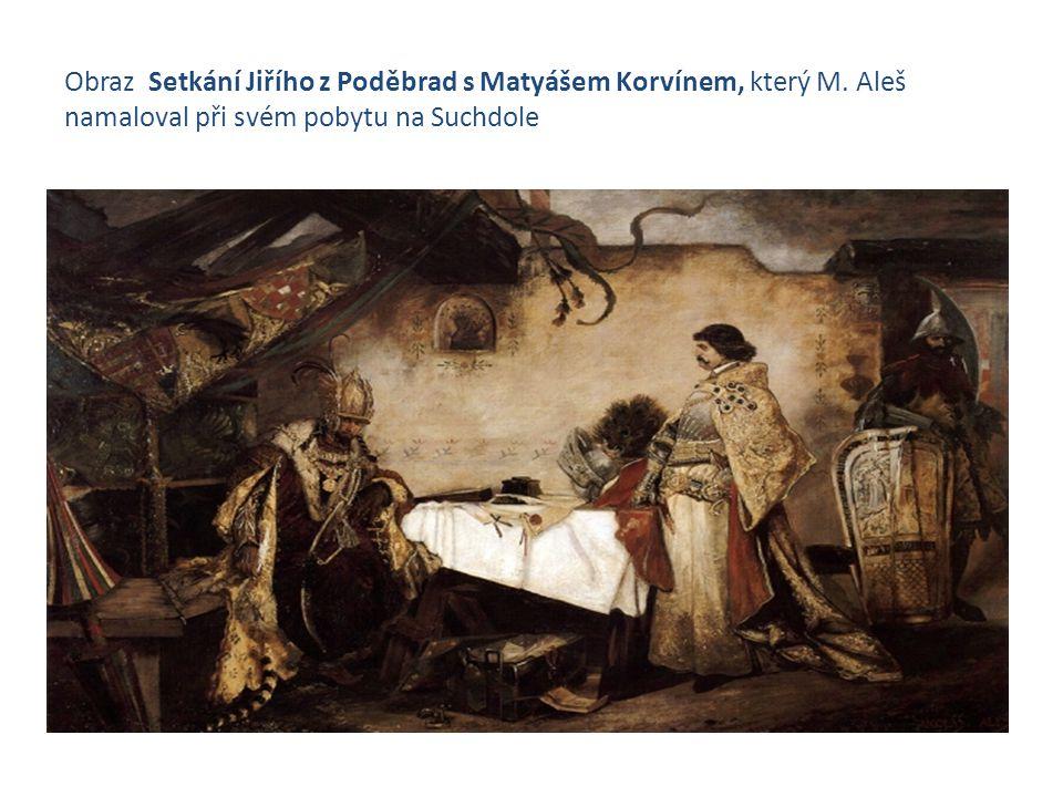 Obraz Setkání Jiřího z Poděbrad s Matyášem Korvínem, který M