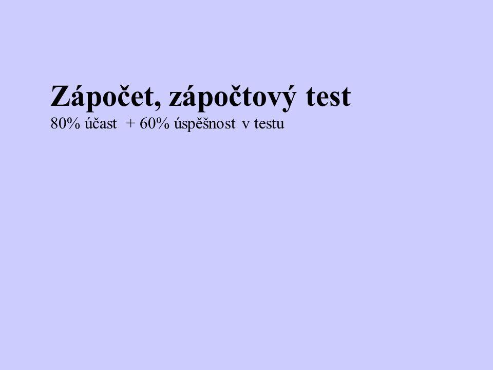 Zápočet, zápočtový test