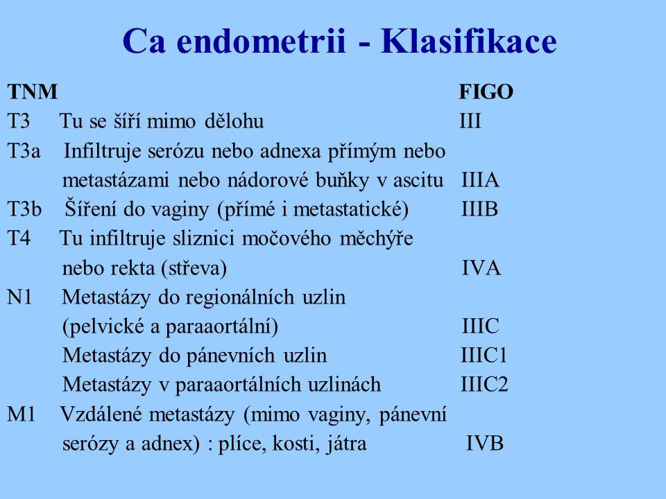 Ca endometrii - Klasifikace