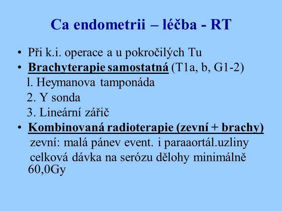 Ca endometrii – léčba - RT