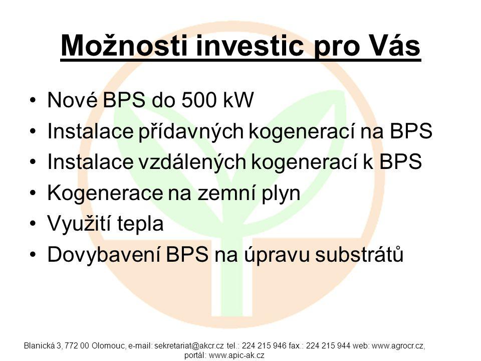 Možnosti investic pro Vás