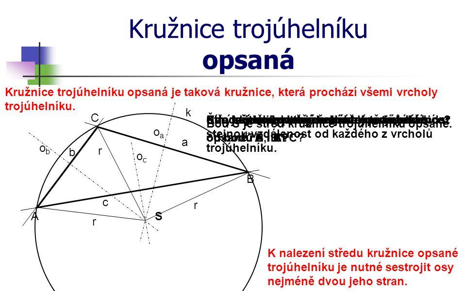 Kružnice trojúhelníku opsaná
