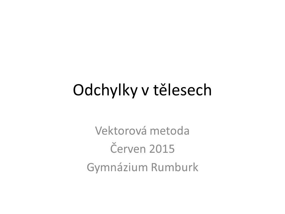 Vektorová metoda Červen 2015 Gymnázium Rumburk