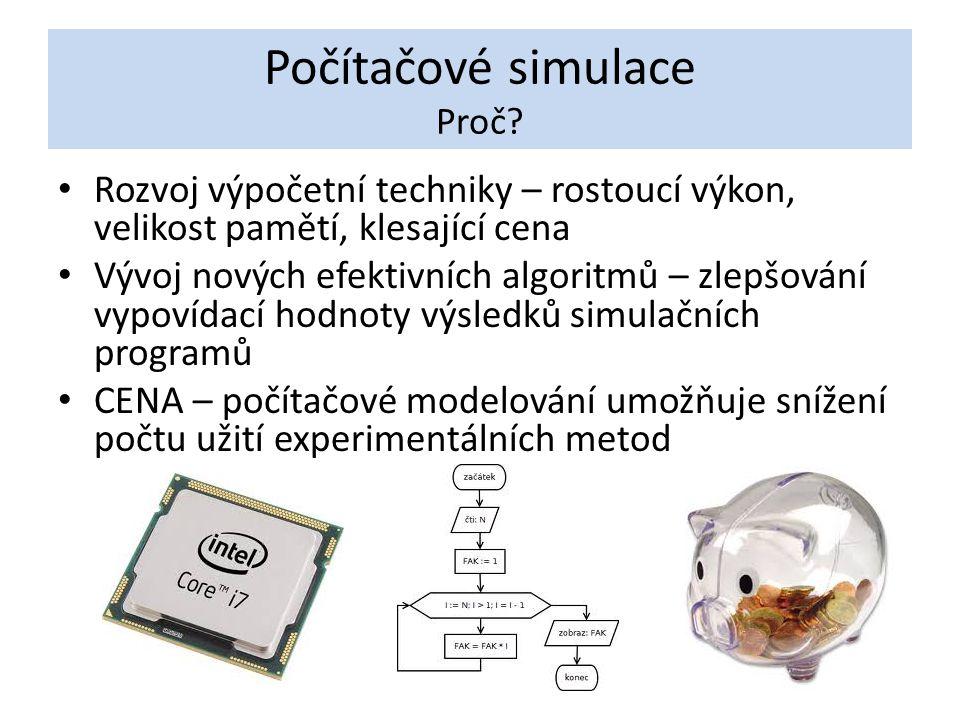 Počítačové simulace Proč