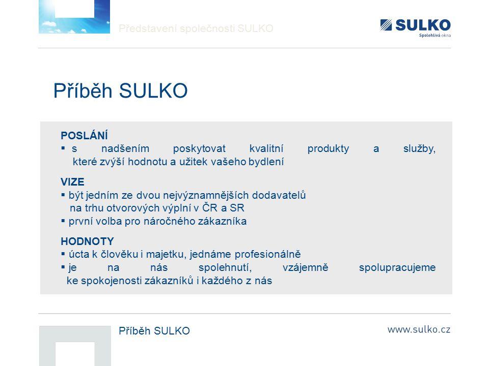 Příběh SULKO Představení společnosti SULKO POSLÁNÍ