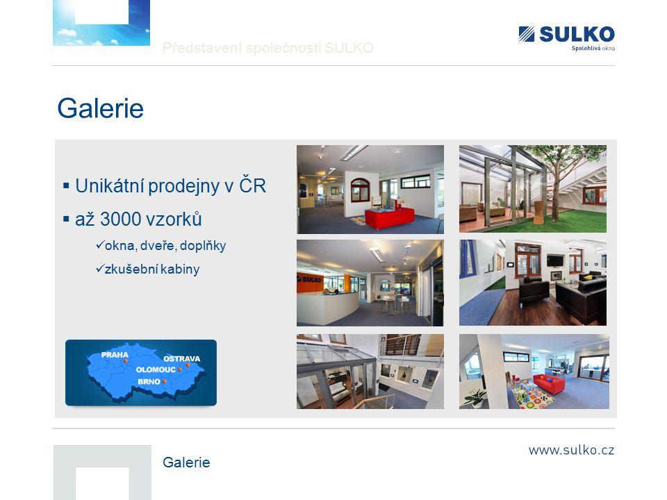 Galerie Unikátní prodejny v ČR až 3000 vzorků