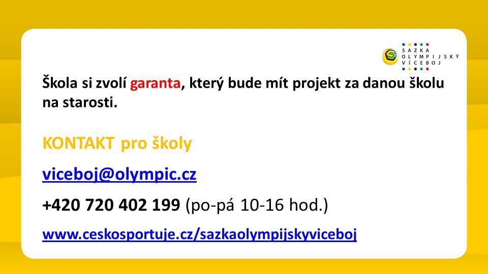 KONTAKT pro školy viceboj@olympic.cz