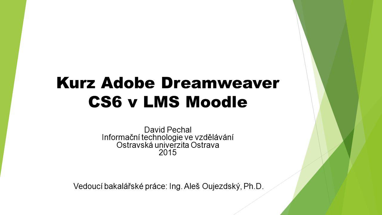 Kurz Adobe Dreamweaver CS6 v LMS Moodle