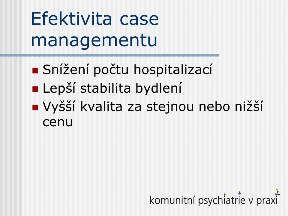 Efektivita case managementu
