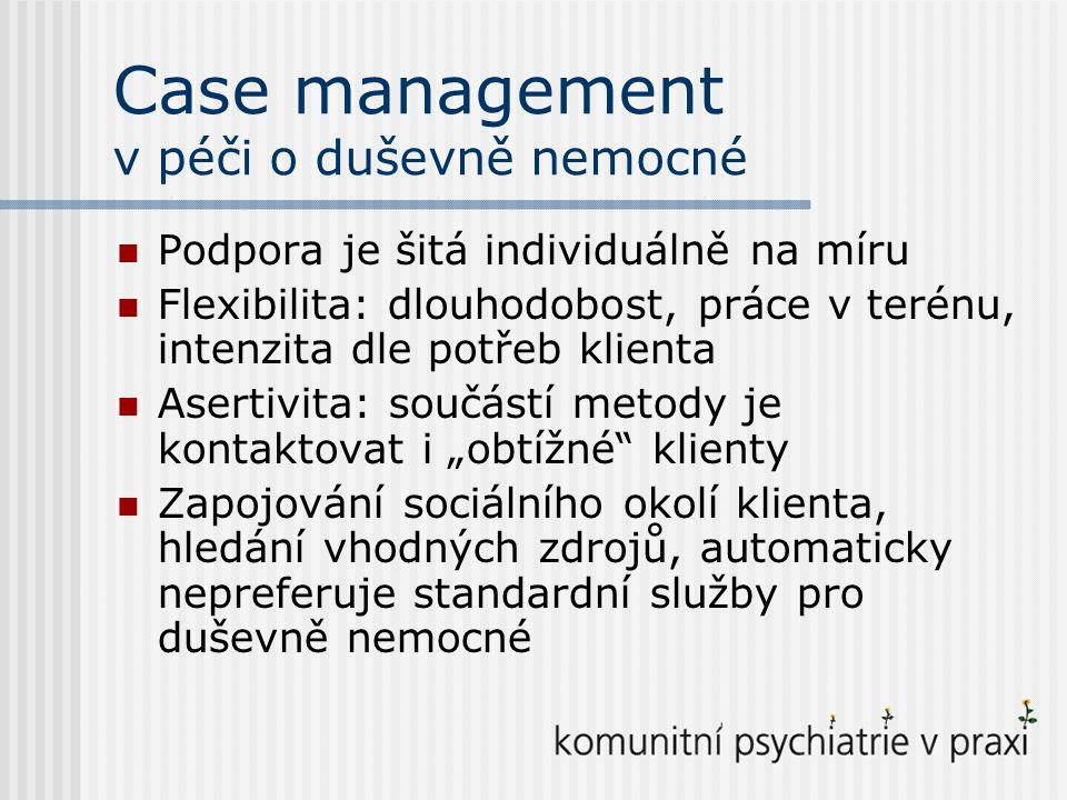 Case management v péči o duševně nemocné