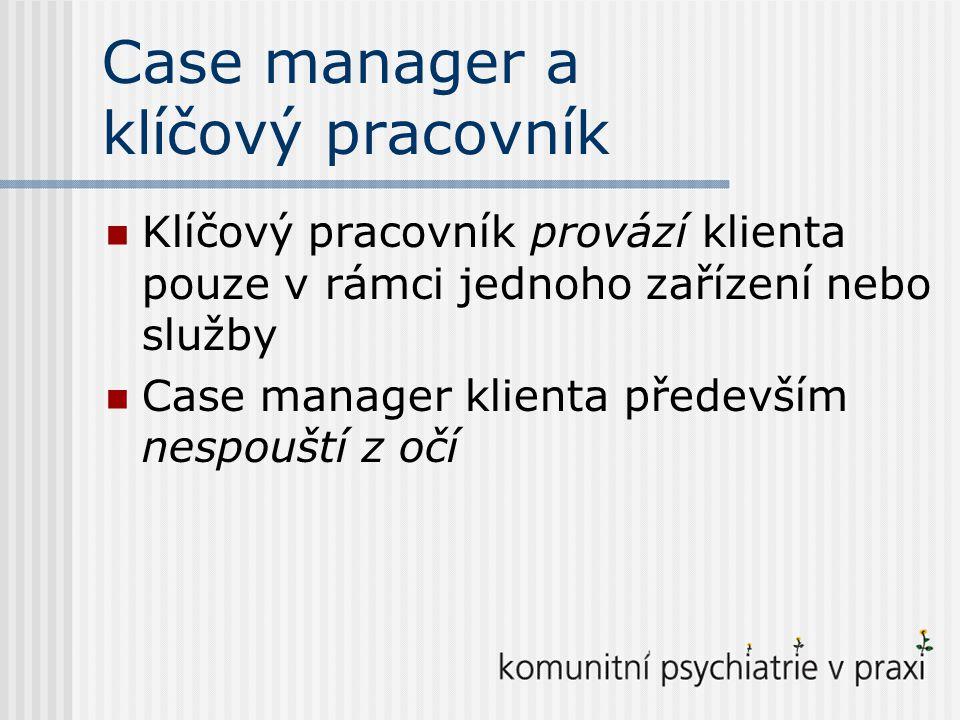 Case manager a klíčový pracovník