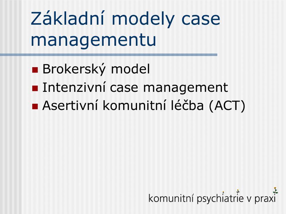 Základní modely case managementu