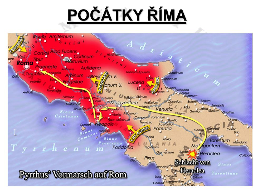 POČÁTKY ŘÍMA