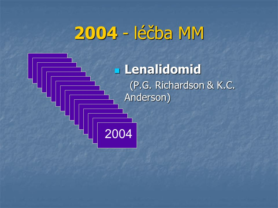 2004 - léčba MM Lenalidomid (P.G. Richardson & K.C. Anderson) 2004