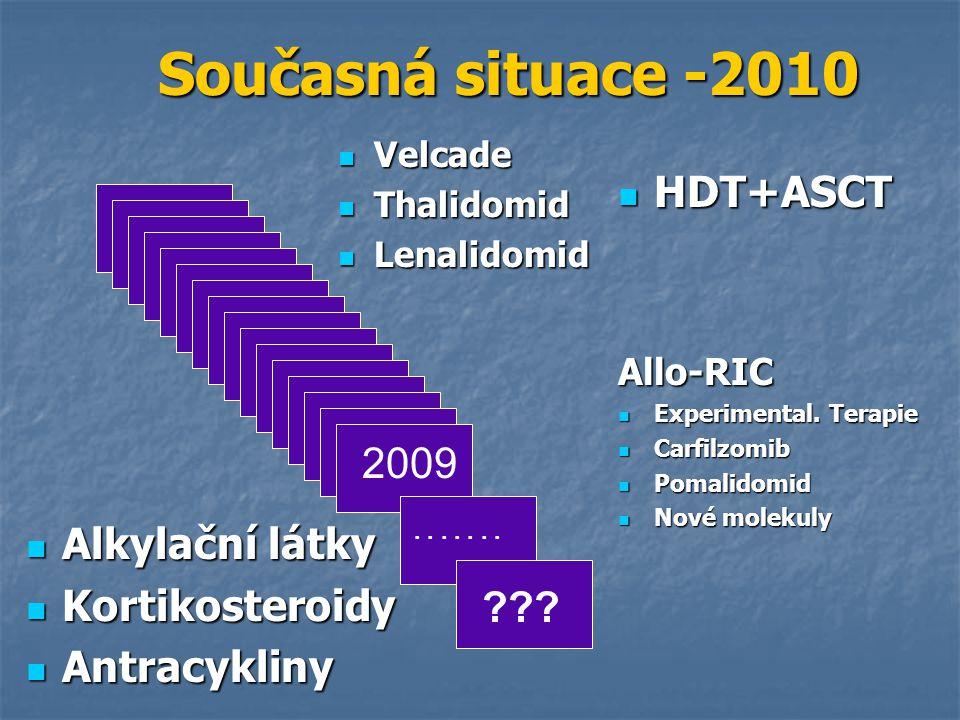 Současná situace -2010 HDT+ASCT 2009 Alkylační látky Kortikosteroidy