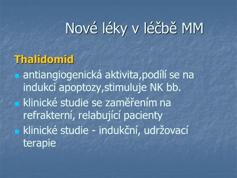 Nové léky v léčbě MM Thalidomid