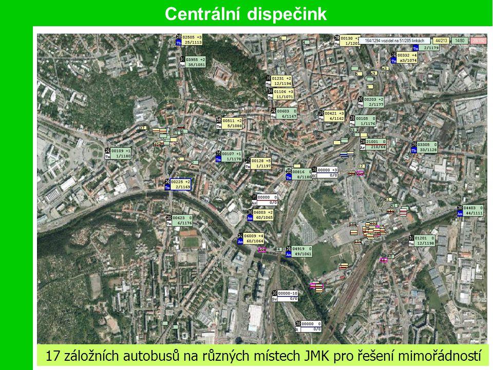 17 záložních autobusů na různých místech JMK pro řešení mimořádností