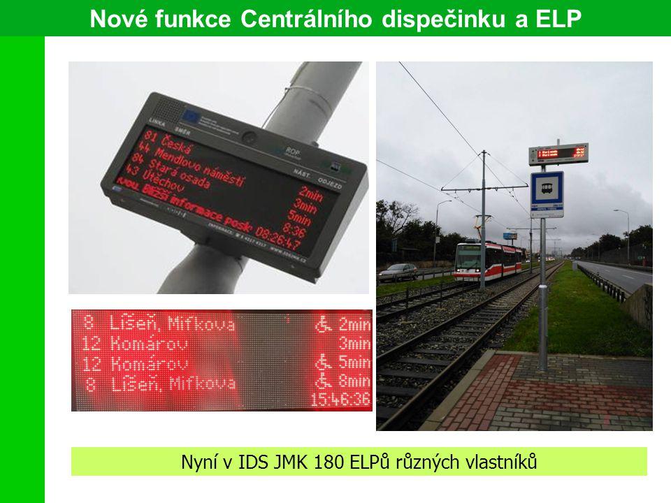 Nové funkce Centrálního dispečinku a ELP