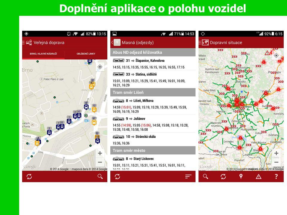 Doplnění aplikace o polohu vozidel