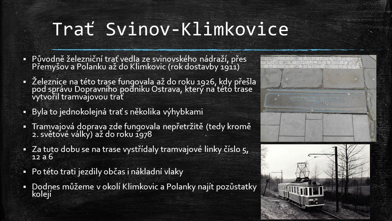 Trať Svinov-Klimkovice