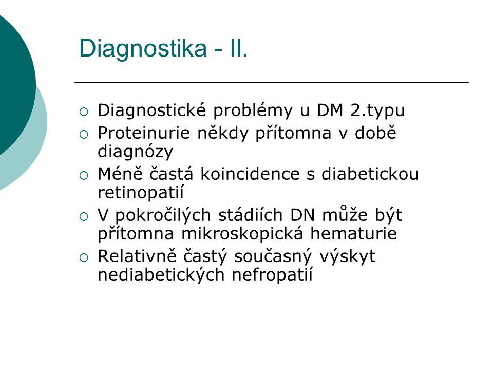 Diagnostika - II. Diagnostické problémy u DM 2.typu
