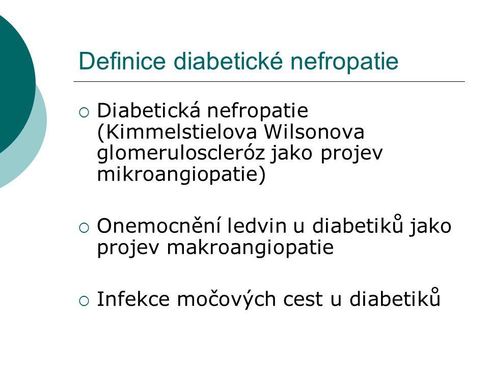 Definice diabetické nefropatie