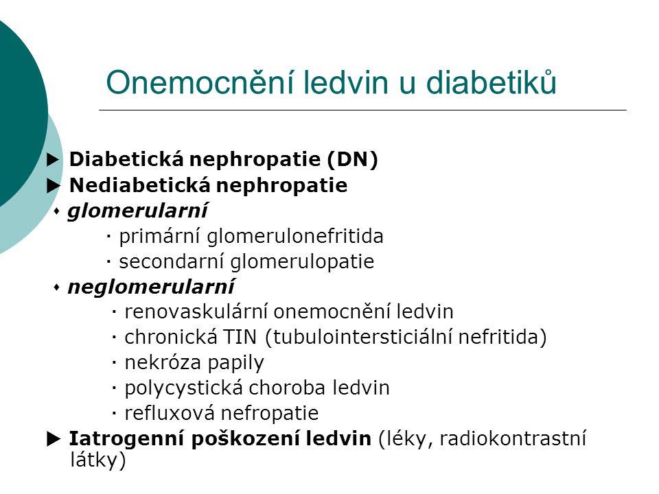 Onemocnění ledvin u diabetiků