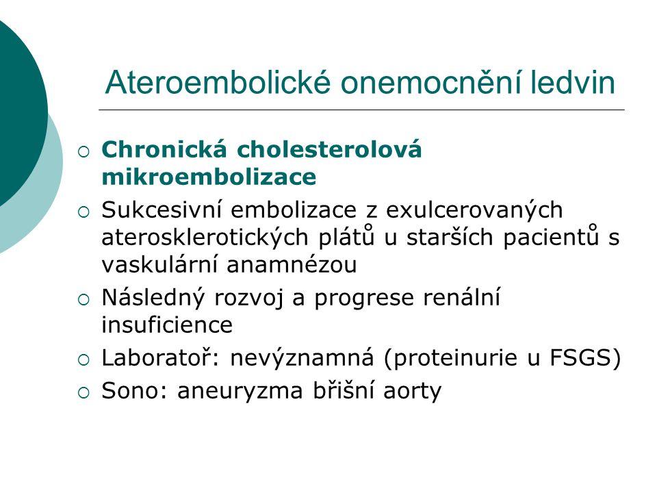 Ateroembolické onemocnění ledvin