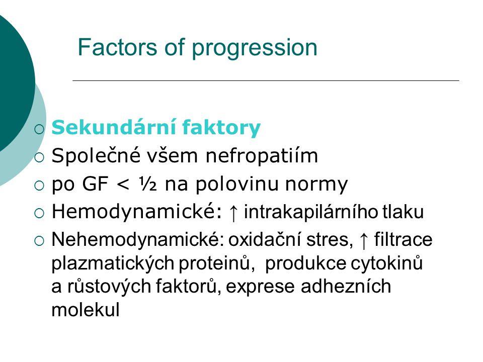 Factors of progression