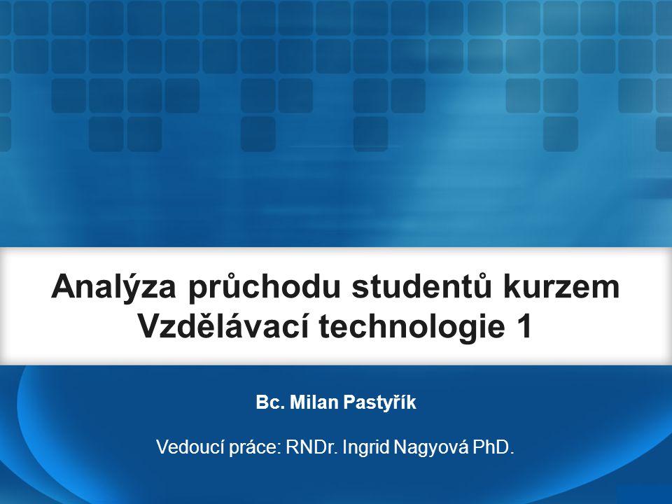 Analýza průchodu studentů kurzem Vzdělávací technologie 1