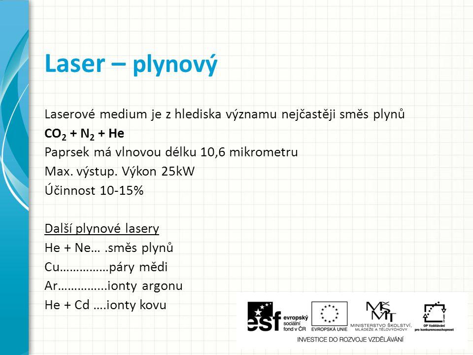 Laser – plynový