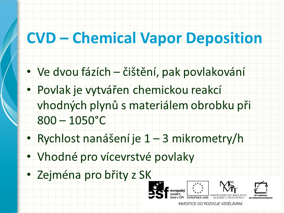 CVD – Chemical Vapor Deposition