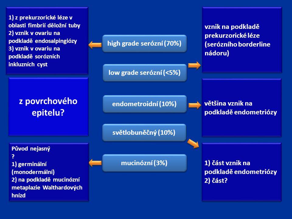 low grade serózní (<5%)