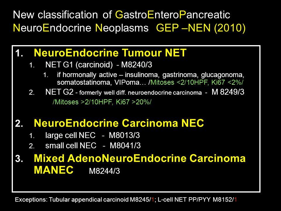 NeuroEndocrine Tumour NET