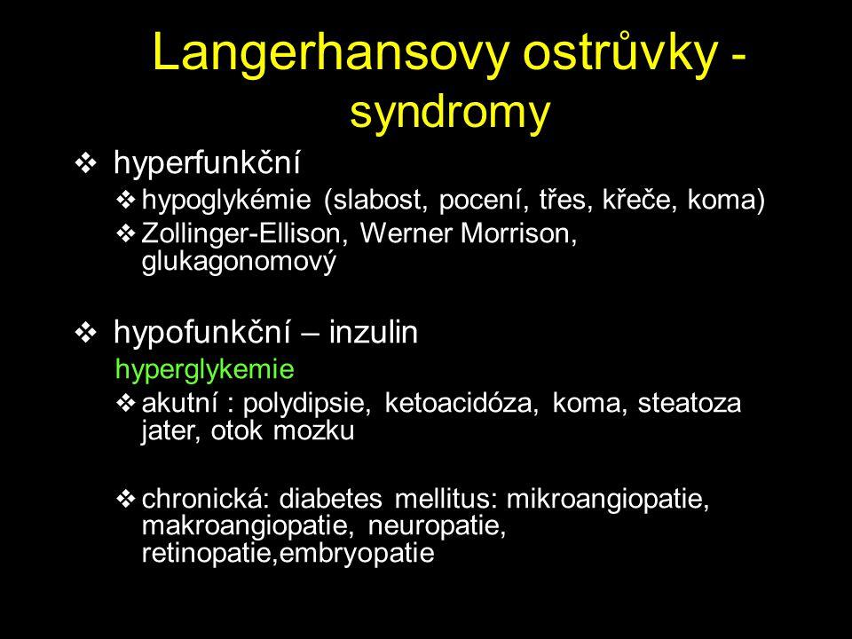 Langerhansovy ostrůvky - syndromy