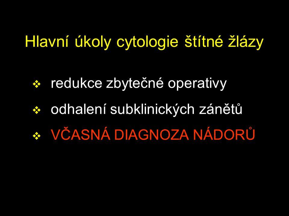 Hlavní úkoly cytologie štítné žlázy