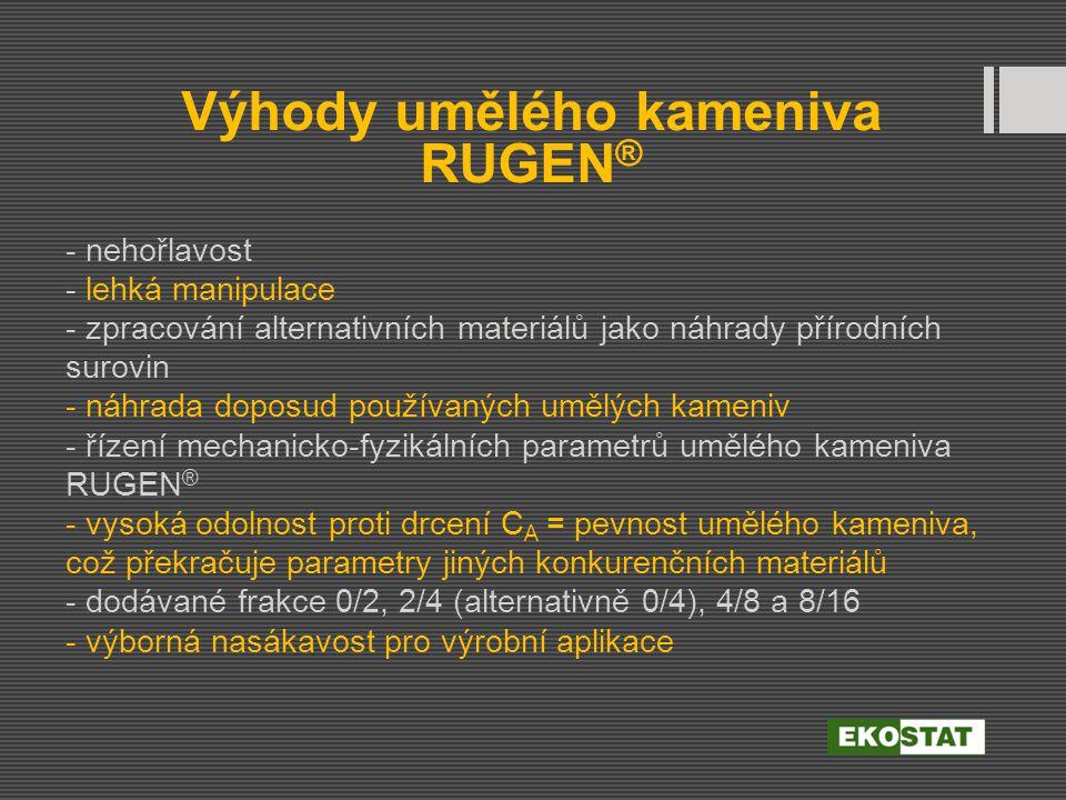 Výhody umělého kameniva RUGEN®