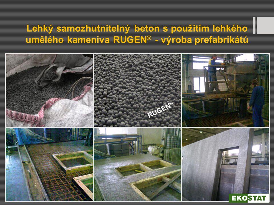 Lehký samozhutnitelný beton s použitím lehkého umělého kameniva RUGEN® - výroba prefabrikátů